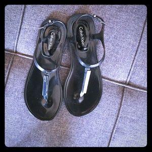 Calvin Klein size 6 sandals